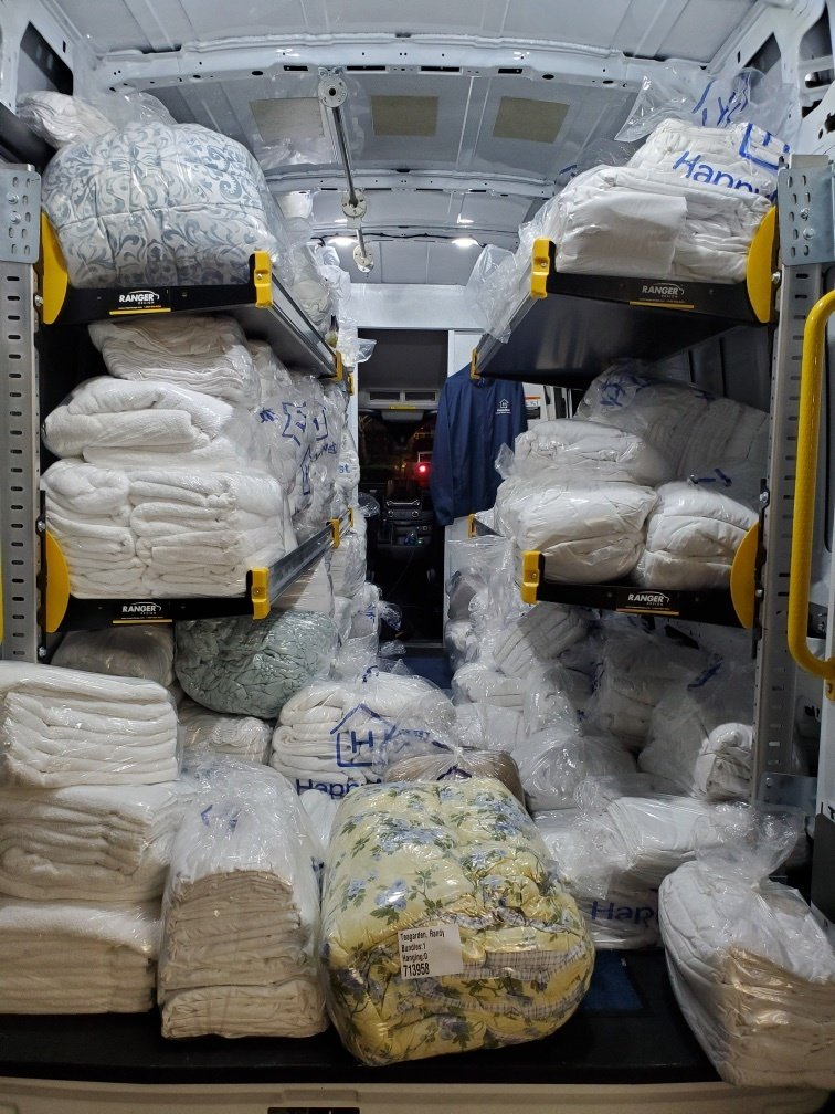 What does 1,138 pounds of laundry look like?