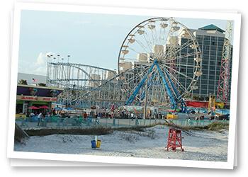 We'll Wash While You Walk on the Daytona Beach Boardwalk